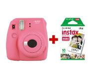 Fujifilm Instax Mini 9 + 10 instant picture film instant print camera 62 x 46 mm Roze