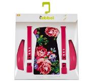 Qibbel stylingset voor achterzitje Roses zwart/rood Q334
