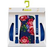 Qibbel stylingset voor achterzitje Roses blauw Q335