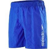 Speedo SCOPE WATERSHORT ZWEMBROEK BLUE WIT LOGO, Small (Blauw, S)