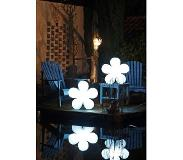 8Seasons Decoratieve LED lichtbloem Shining Flower