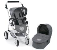 Bayer Poppenwagen Emotion 2 in 1 Jeans Grey - Combi Poppenwagen - Bayer Chic 2000