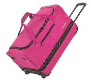 Travelite Basics Wheeled Duffle 70 Expandable pink / orange Reistas
