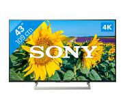 "Sony KD-43XF8096 LED TV 108 cm (42.5"") 4K Ultra HD Smart TV Wi-Fi Zwart"