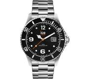 Ice-watch IW016032 ICE Steel Black silver Large 44 mm horloge