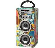 Pure Acoustics Acoustics MCP20GRA - Portable karaoke systeem met bluetooth, USB, SD en FM radio