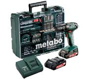 Metabo SB 18 SET Zwart, Groen Boormachine met pistoolgreep 1600RPM Lithium-Ion (Li-Ion) 2Ah 1410g