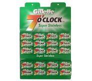 Gillette double edge scheermesjes 7 O'Clock Super Stainless 100 stuks