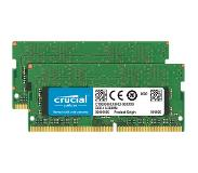 Crucial 32GB Kit DDR4 2400 MT/s 16GBx2 SODIMM 260pin DR x8 unbuf