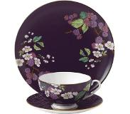 Wedgwood Tea Garden Blackberry 3-delige theeset