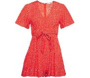 ComeGetFashion Red Tiny Dots Playsuit (Vrouw, Maat M, Rood / Witte Details)