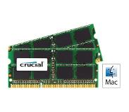 Crucial 16GB DDR3L 1866 MT/s Kit 8GBx2 SODIMM 204pin voor Mac