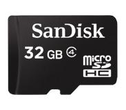 SanDisk MicroSDHC 32GB Class 4 Geheugenkaart + SD-adapter