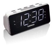 Lenco CR-19 Digital alarm clock Zwart, Wit wekker