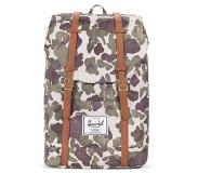 Herschel Retreat Rugzak frog camo / tan synthetic leather