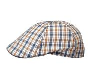 Stetson Texas Cotton Checked Flat Cap by Stetson