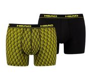Head Honeycombination Print Boxershort Black/Yellow-XL (Zwart, XL)