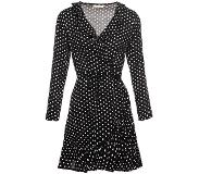 ComeGetFashion That Black Dotted Dress (Vrouw, Maat S|M|L, Zwart / Witte Details, Avondjurken)
