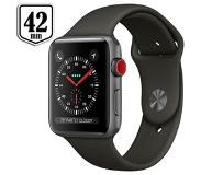 Apple Watch 3 GPS + Cell 42mm Space Grijs Alu Case (Grijs Sport Band)
