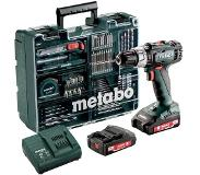 Metabo SB 18 L SET Boormachine met pistoolgreep Zwart, Groen 1800 RPM Lithium-Ion (Li-Ion) 2 Ah 1,6 kg