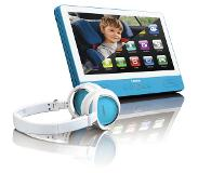 "Lenco TDV-901 Portable DVD player Tafelblad 9"" 1024 x 600Pixels Blauw"