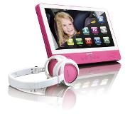 "Lenco TDV-901 Portable DVD player Tafelblad Roze 22,9 cm (9"") 1024 x 600 Pixels"