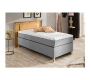 Home affaire boxspring »Tessin-Box«, in 3 breedten, massief houten hoofdbord, inclusief topmatras