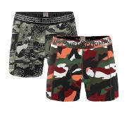 Muchachomalo 2-Pack ARMYX BOYS-110-116 (Groen, Print, Wit, Zwart, One size fits all)