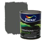 Flexa Creations muurverf industrial grey extra mat 1 liter