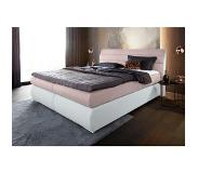 Places Of Style boxspring van structuurstof/imitatieleermix, extra lang 220 cm