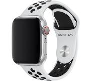 Apple Watch 40mm Siliconen Horlogeband Nike Sport Platina