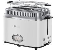 Russell Hobbs Retro Classic broodrooster 2 snede(n) Wit 1300 W
