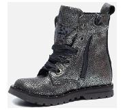 Shoesme veterbooties zilver