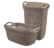 Curver KNIT LAUNDRY HAMPER 57L + BASKET 40L