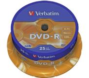 Verbatim DVD-R 4.7 GB 16x Matt Silver Surface 25 st.