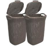 Curver Knit wasbox - 57 liter - harvest brown - set van 2