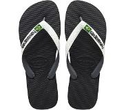 Havaianas Brasil Mix Slippers Unisex - Black/White