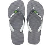 Havaianas Brasil Mix Slippers Unisex - Steel Grey/White/White