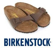 Birkenstock Madrid Dames Slippers - Mocca
