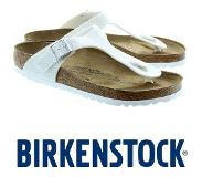 Birkenstock Gizeh Magic Snake White Slippers Dames Size : 35