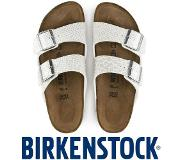 Birkenstock Arizona Magic Snake White Slippers Dames Size : 42