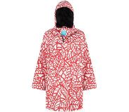 HappyRainyDays Poncho Happy Rainy Days Bike Cape Reva Leaf Off White Red