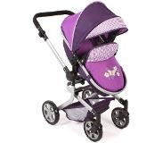 Bayer Combi Poppenwagen Mika Purple Checker