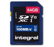 Integral Geheugenkaart Integral SDXC V10 64GB
