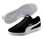 Puma Smash v2 Sneakers Unisex - Black-White-Silver