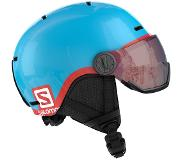 Salomon Skihelm Salomon Grom Visor Junior Glossy/Pink-53 - 56 cm