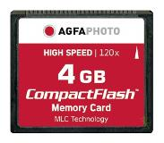 Agfaphoto Compact Flash, 4GB 4GB CompactFlash flashgeheugen