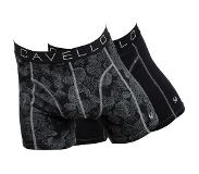 Cavello 2-PACK Boxershorts Black & Abstract Leaves, Extra Extra Large (Print, Zwart, XXL)