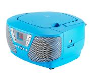 BigBen Interactive CD60 Kinder-CD-Radio met stickers (blauw)