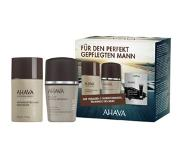 Ahava Herencosmetica Time To Energize Men Gift Set Soothing After-Shave Moisturizer 50 ml + Roll-On Deodorant 50 ml + Dunaliella Peel Off Mask 8 ml 1 Stk.
